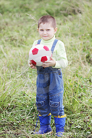 Little kid with soft ball