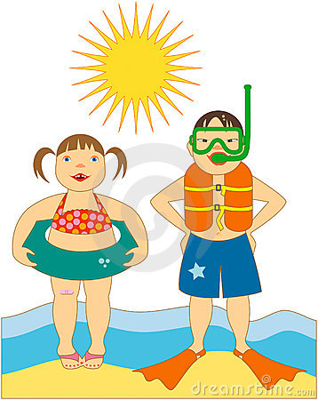 Free Little Kids At The Beach Royalty Free Stock Photo - 7799905