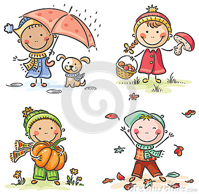 Image result for children in autumn pic