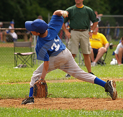 Free Little League Baseball Pitcher Stock Photos - 12752843