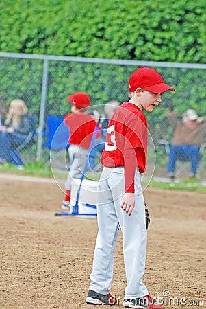 Little league baseball player.