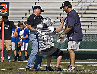 Little League Football Injured Player Editorial Image