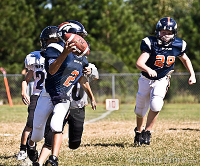 Little League Football Quarterback Editorial Image