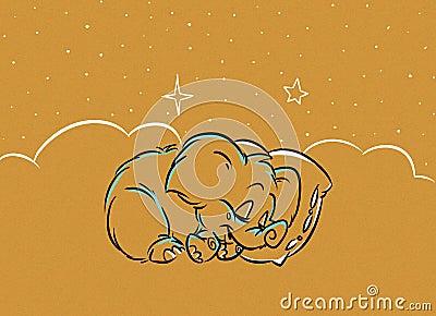 Little mammoth sleeps