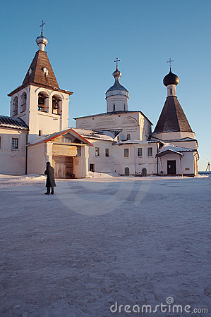 Little monastery in winter
