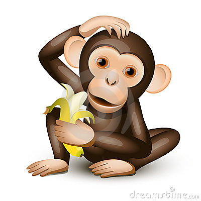 Free Little Monkey Royalty Free Stock Images - 19761339