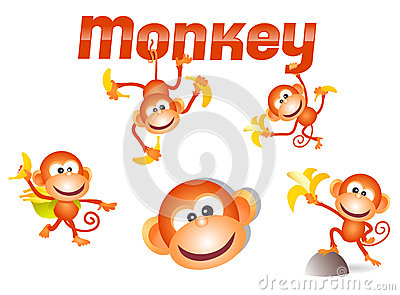 Little monkey character