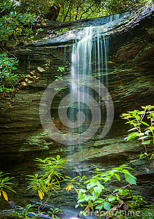 Free Little Moore Cove Falls In Pisgah Forest Stock Image - 32889361