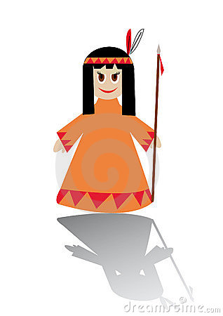 Little native american girl