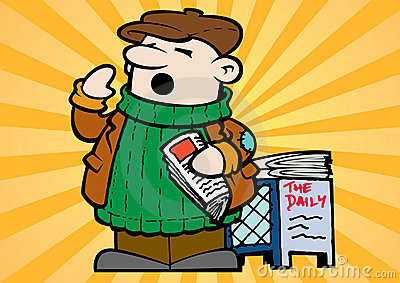 Little Newspaper Vendor