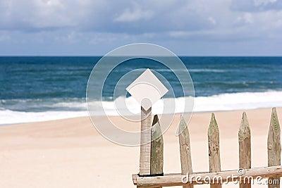 Little Notice board on the beach