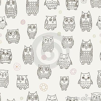 Little owls pattern