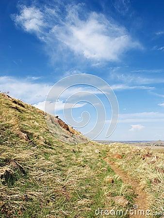 Little Path Along an Open Hillside