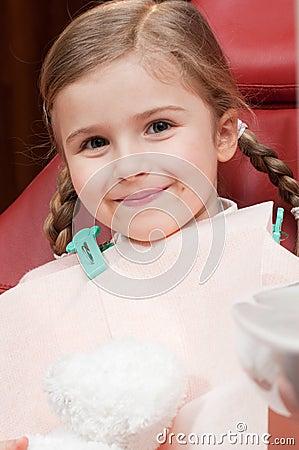 Little patient at dentist