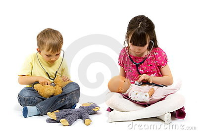 Little Physicians With Stethoscopes