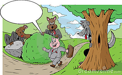 Little piggy going to the market