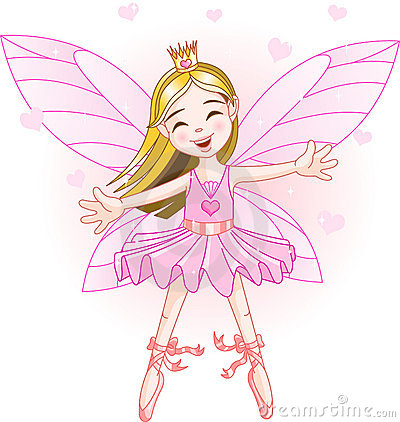 Free Little Pink Fairy Royalty Free Stock Images - 9595009