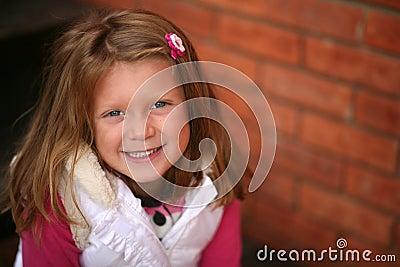 Little preschool blonde girl