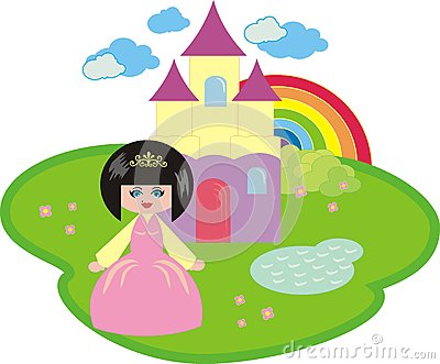 The little princess and the fantastic castle