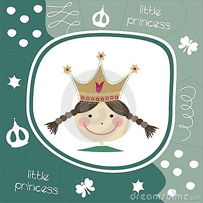 Little princess greeting card