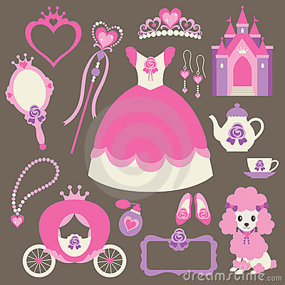 Free Little Princess Set Royalty Free Stock Photos - 23662938