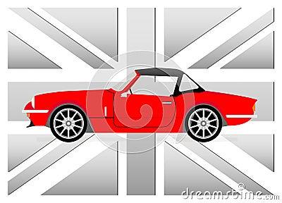 Little red cabrio