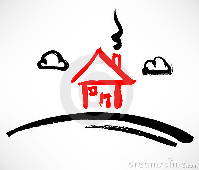 Little Red House On The Hill Stock Photography - Image: 20977692