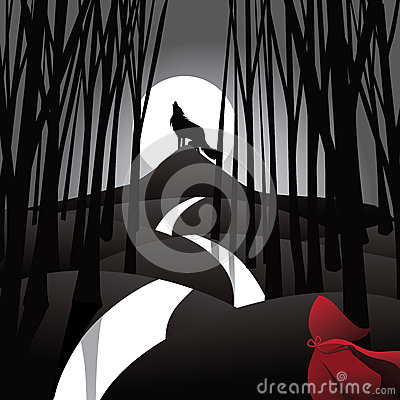 Free Little Red Riding Hood Fairy Tale Depiction Stock Image - 66090741