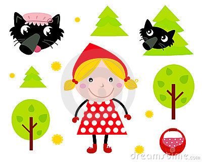 Little Red Riding Hood icon collection