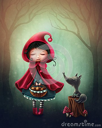Little red riding hood Stock Photo
