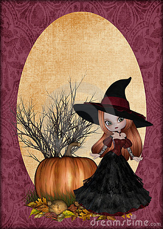 Little Redhaired Witch Background