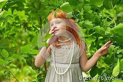 Little redheaded girl