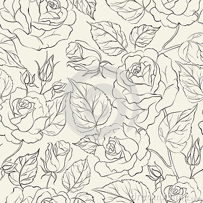 Little Rose seamless background.