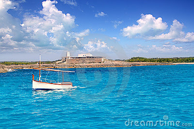 Little sailboat in formentera