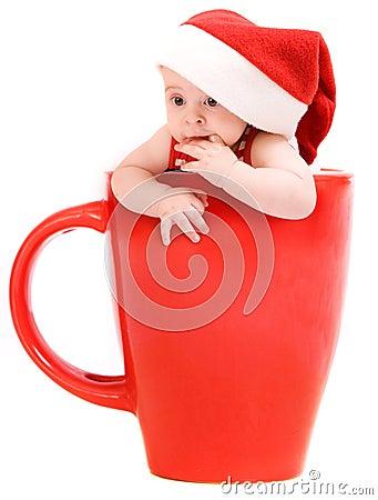 Little santa in the cap