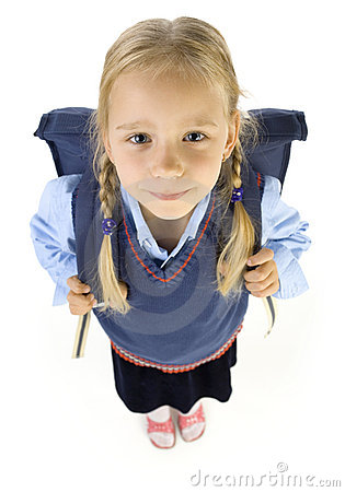 Free Little School Girl Royalty Free Stock Photo - 2952475