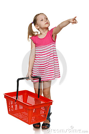Free Little Shopper. Royalty Free Stock Images - 30392279