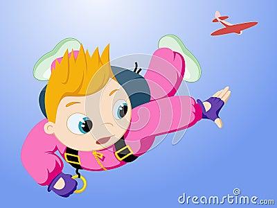 Little skydiver