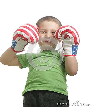 Little smiling boxer