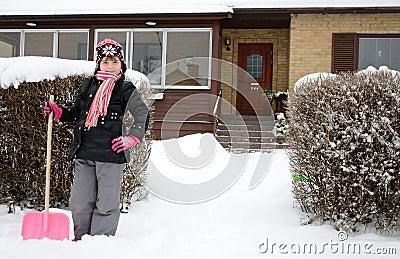 Little snow worker