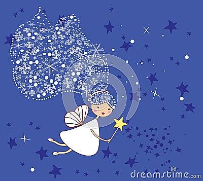 Free Little Snowflake Fairy Stock Image - 7423961