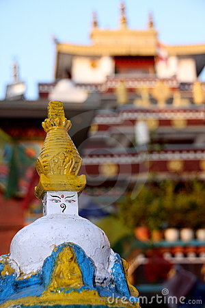 Little stupa and palace