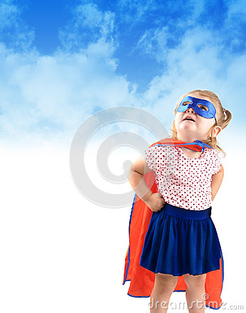 Free Little Super Hero Rescue Child Stock Images - 26290814