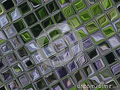 Little tiles of glass