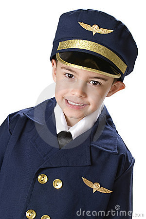Little Uniformed Pilot