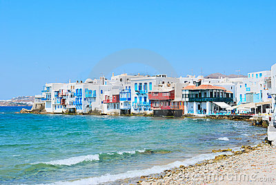 Little venice of mykonos Island