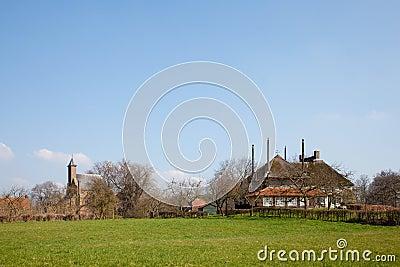 Little village in Dutch landscape