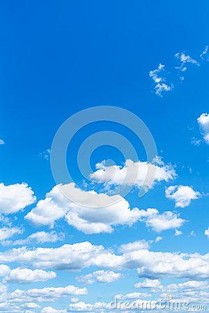 Free Little White Clouds In Summer Blue Sky Stock Images - 55424314