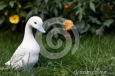 Little white duckling figurine