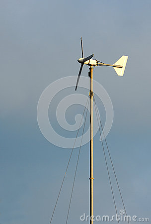 The little wind turbine custom handmade.